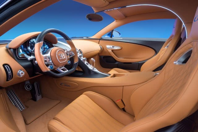 εσωτερικό της Bugatti Chiron