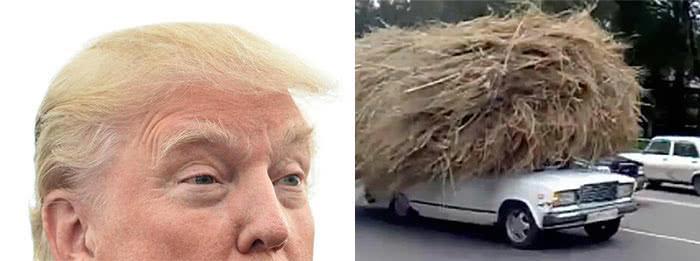 αυτοκίνητο φορτωμένο σε στυλ μαλλιών ντόναλντ
