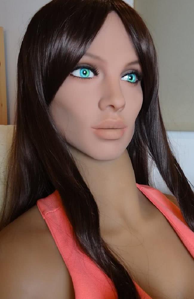 πρόσωπο κούκλας ρομπότ από σιλικόνη