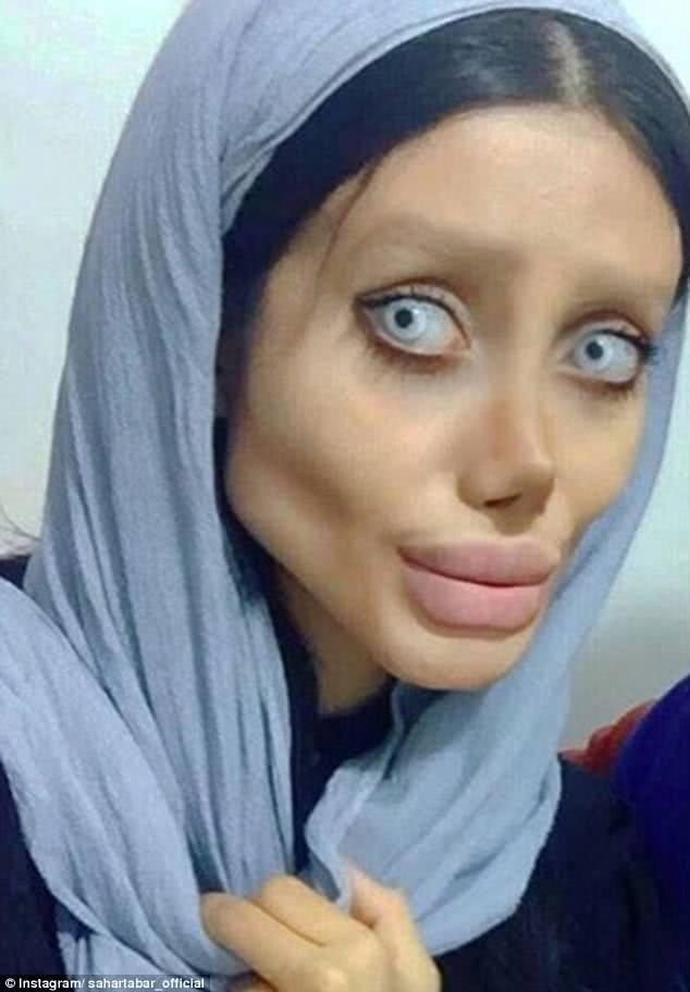 ιρανή σε στυλ αντζελίνα τζολί