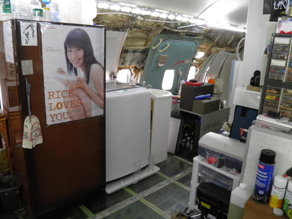 οικιακές συσκευές σε αεροπλάνο