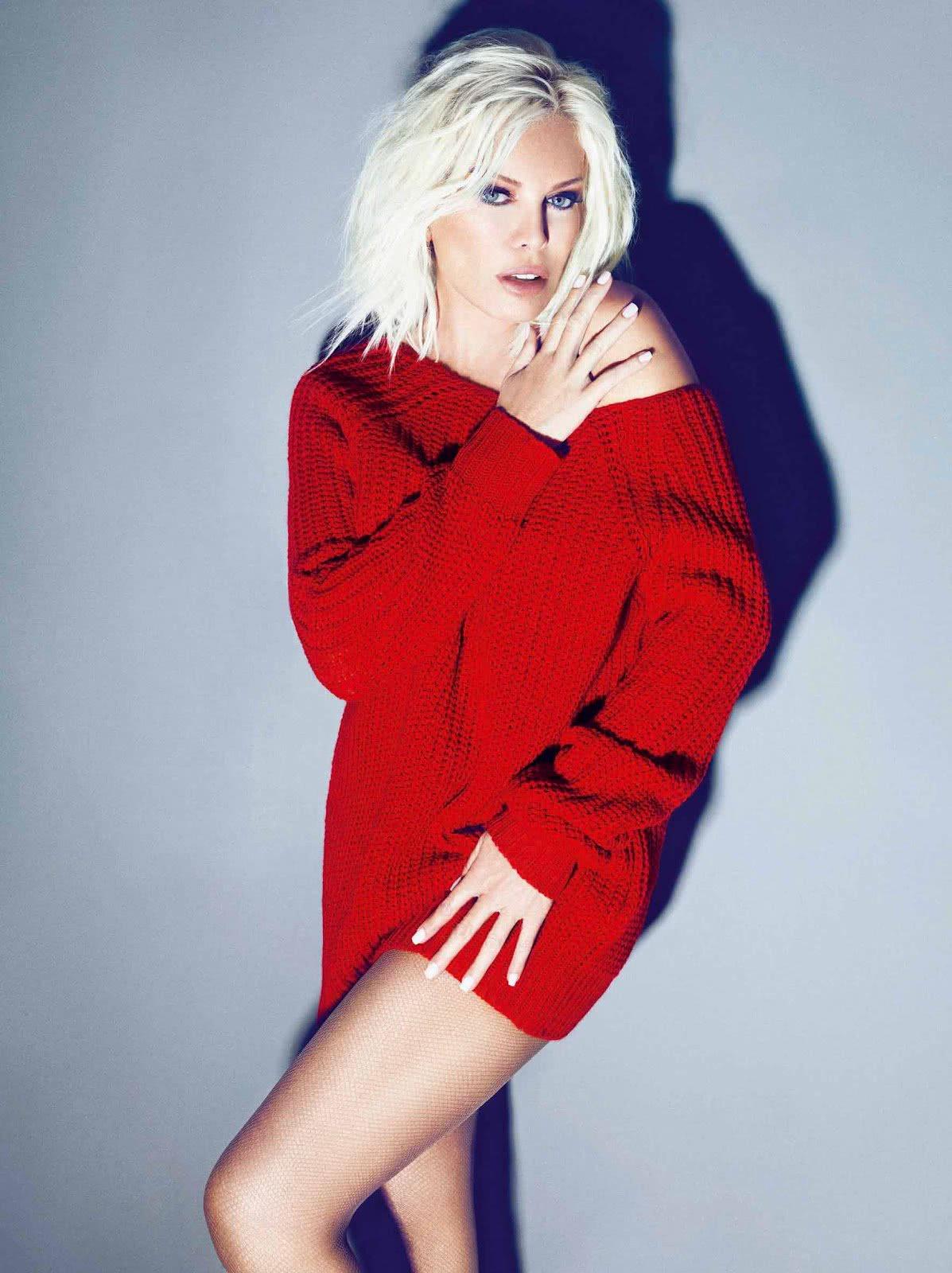 πεκάν με κόκκινο πουλόβερ