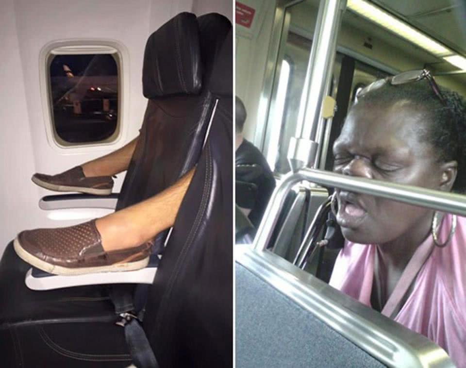 σκηνές από λεωφορείο και τραίνο
