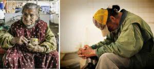 άστεγος άνδρας και γυναίκα