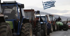 αγρότες με τρακτέρ
