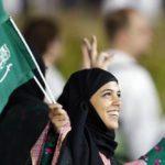 γυναίκες αραβίνες με σημαίες