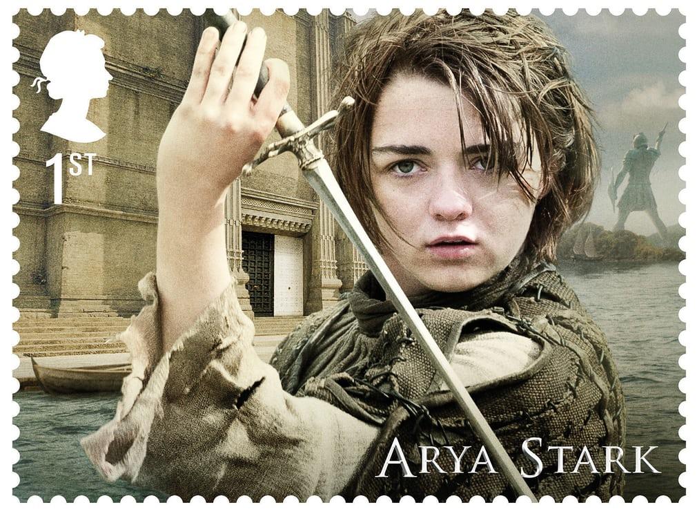 άρια σταρκ σε γραμματόσημο
