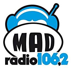 Λογότυπο ράδιφωνικού σταθμού Mad Radio