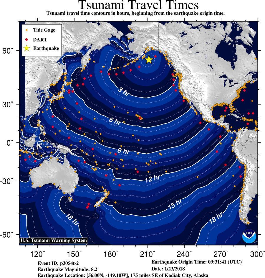 χάρτης τσουνάμι