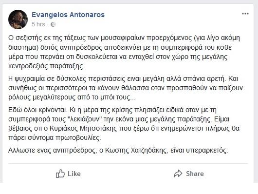 αντώναρος facebook