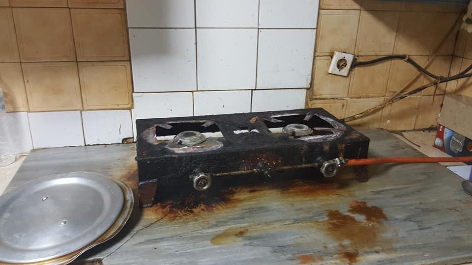 εγκαταλελειμένη κουζίνα