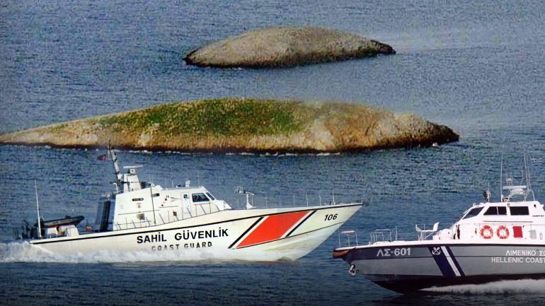 ελληνικό και τουρκικό πλοίο
