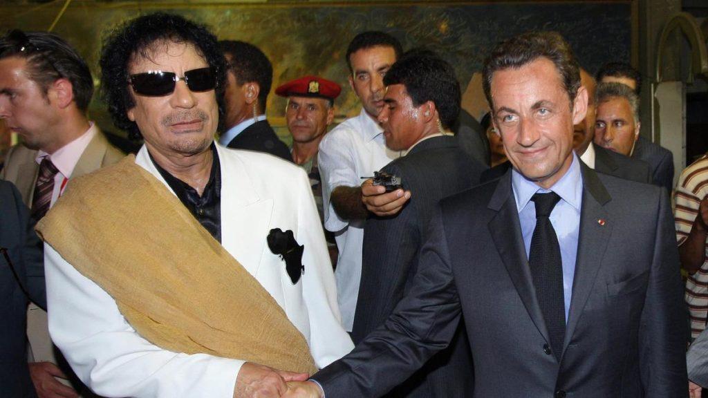 σαρκοζί με καντάφι