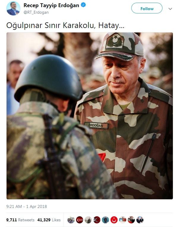 ερντογάν τουίτερ