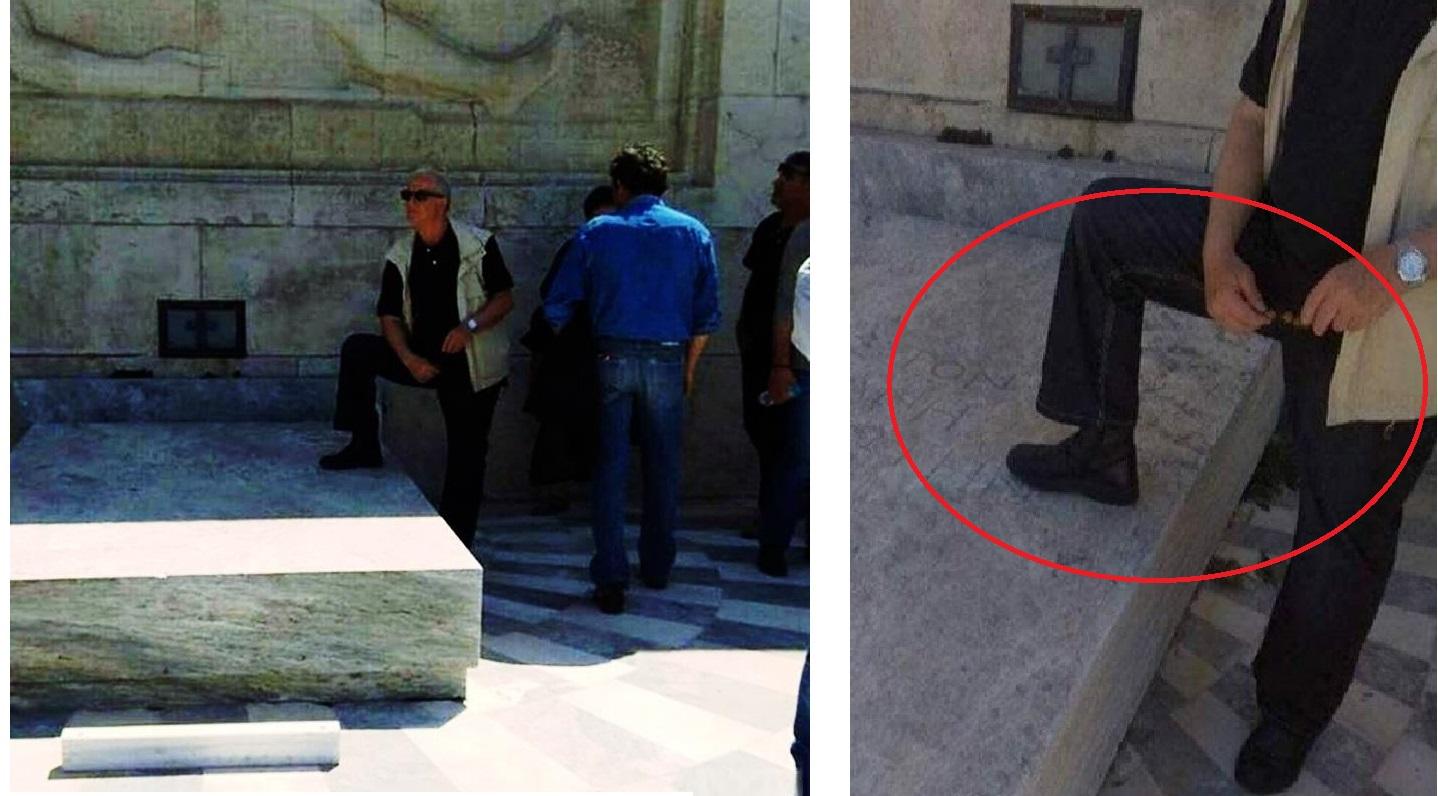 Διαδηλωτής πατά το μνημείο του Αγνώστου Στρατιώτη – Ανακοίνωση ΔΕΗ