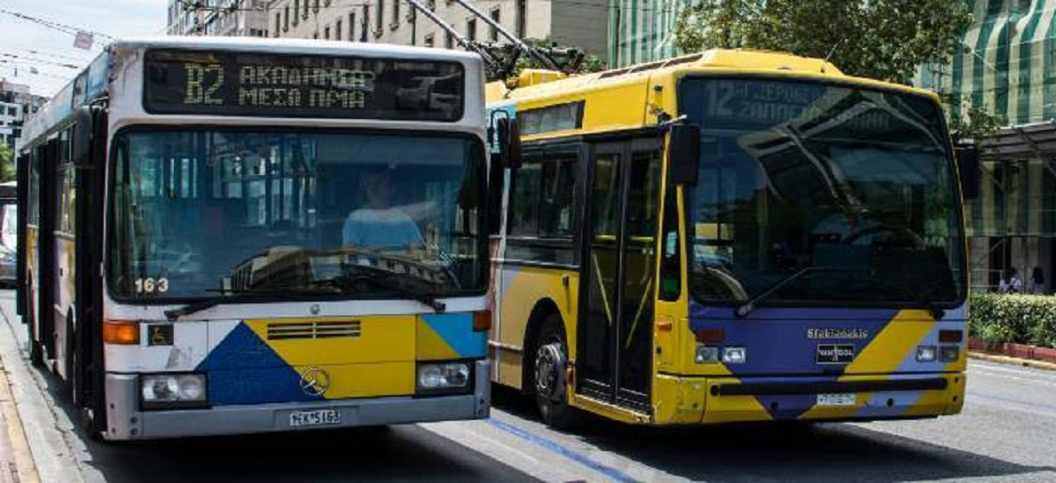 λεωφορείο με τρόλεϊ