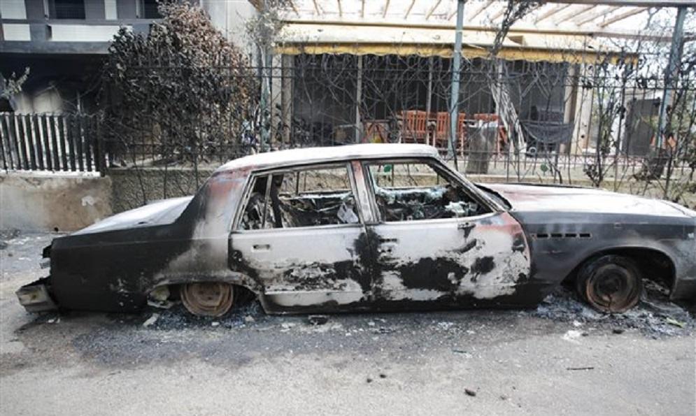 πυρκαγιά, καμμένο αμάξι
