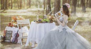 νύφη σε κτήμα