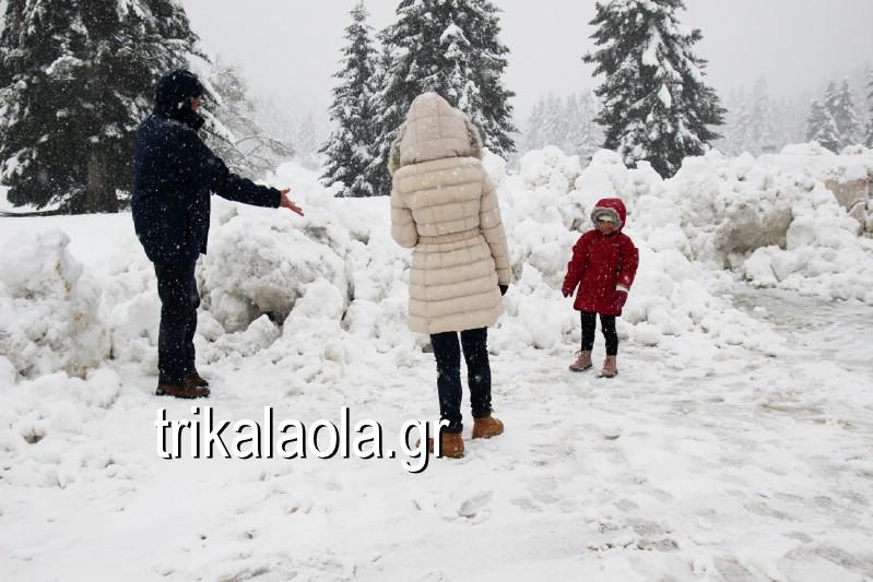 παιδιά στα χιόνια