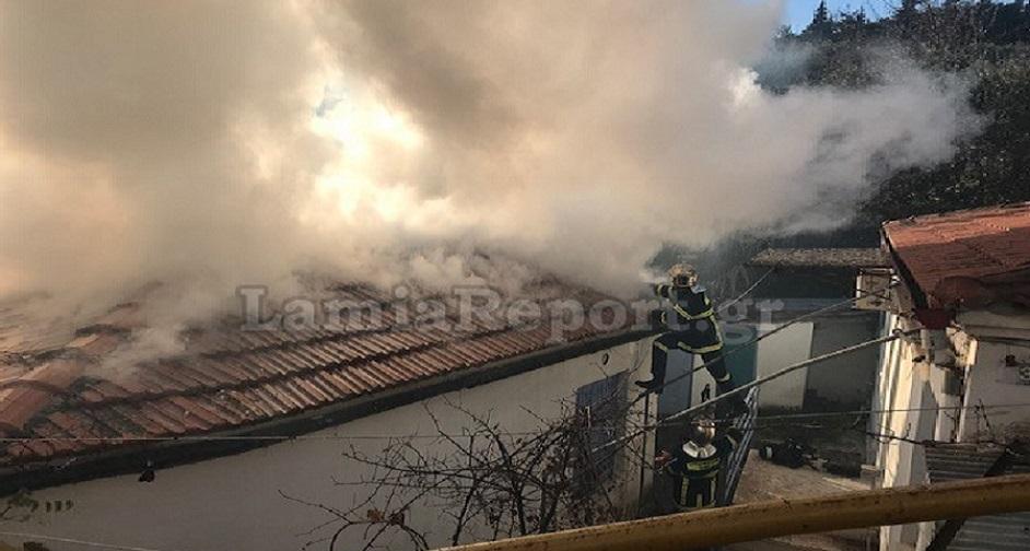 πυρκαγιά στη λαμία