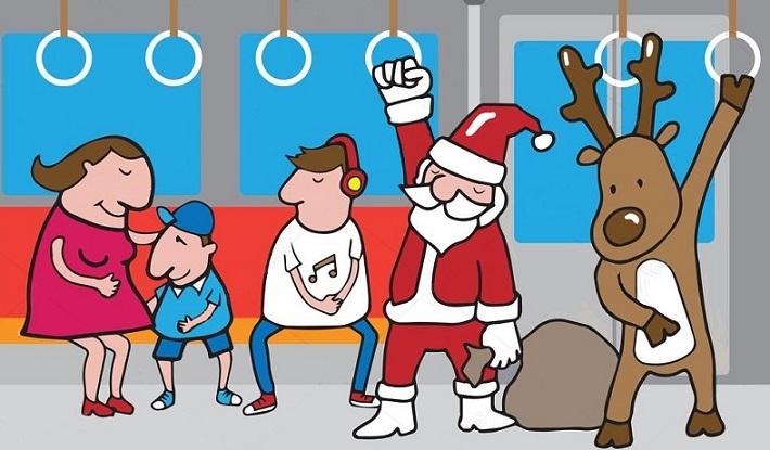 χριστούγεννα στο μετρό