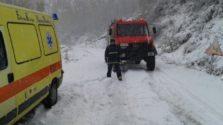 ασθενοφόρο χιόνια