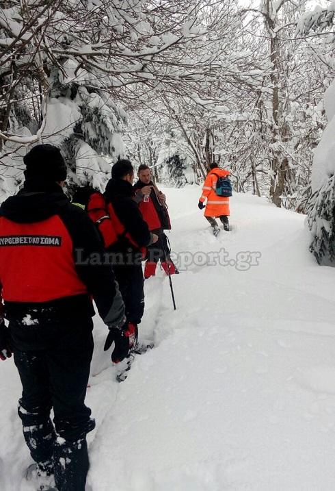 επιχείρηση στα χιόνια