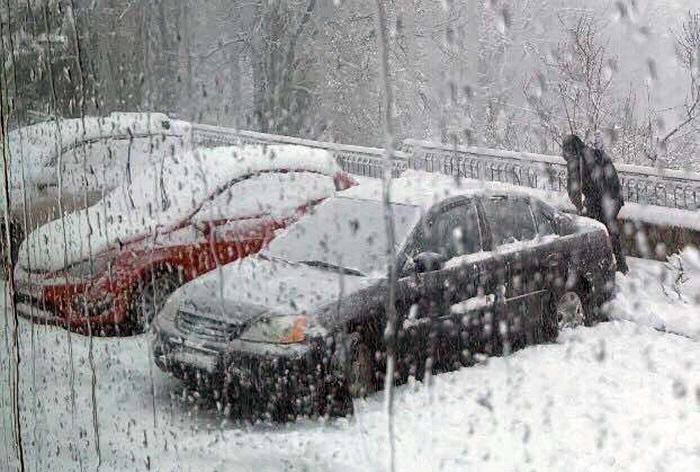 το χιόνι στο στόμιο