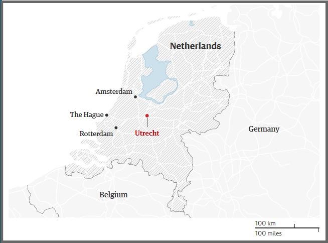 ολλανδία utrecht χάρτης