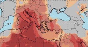 χάρτης με σκόνη, μετεό