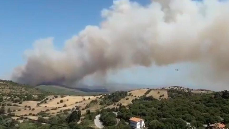 μεγάλη πυρκαγιά ξέσπασε στα μανίκια ευβοίας