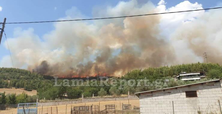 η πυρκαγιά ξέσπασε στο δήμο μακρακώμης